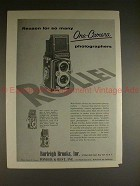 1956 Rollei Rolleiflex Camera Ad - Reason for so Many!