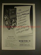 1956 Rollei Rolleicord Camera Ad - Long Proved Record!!