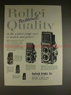 1957 Rollei Rolleiflex & Rolleicord Camera Ad - Quality