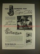1958 Rollei Mini Rolleiflex Camera Ad - Super Slides!!
