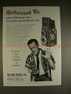 1958 Rollei Rolleicord Va Camera Ad - A Whole Battery!