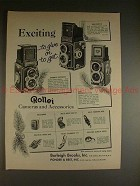 1958 Rollei Rolleiflex, Rolleicord Camera Ad - Exciting
