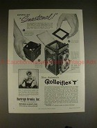 1959 Rollei Rolleiflex T Camera Ad - Say Sensational!