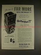 1959 Rollei Rolleiflex T Camera Ad - Can Do Far More!!