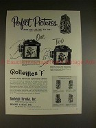 1959 Rollei Rolleiflex F Camera Ad - Perfect Pictures!!