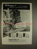 1960 Rollei Rolleiflex F Camera Ad, Provides Everything