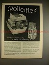 1962 Rollei Rolleiflex Camera Ad - Taking, Projecting!!