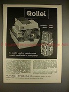 1962 Rollei Rolleiflex Camera Ad - Projects 3 Sizes!!