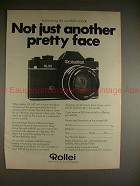 1971 Rollei Rolleiflex SL35 Camera Ad - Pretty Face!!
