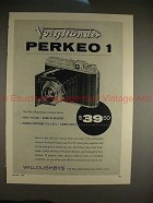 1954 Voigtlander Perkeo 1 Camera Ad - Sure in Results!!
