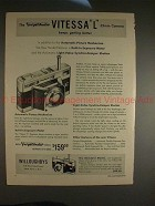 1955 Voigtlander Vitessa L Camera Ad - Getting Better!
