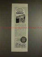 1952 Voigtlander Prominent Camera Ad - Pic Takers Rave!