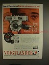 1958 Voigtlander Vitomatic 2 Camera Ad - Figures & Sets