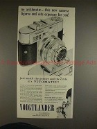 1959 Voigtlander Vitomatic Camera Ad - No Arithmetic!!