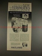 1960 Voigtlander Vitomatic Ia IIa Camera Ad - Greater!
