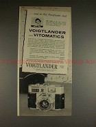 1960 Voigtlander Vitomatic Ia and IIa Camera Ad, NICE!