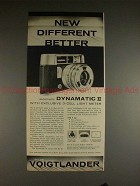 1961 Voigtlander Dynamatic II Camera Ad - Different!!