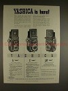 1956 Yashica A, C, LM TLR Camera Ad - Yashica is Here!!