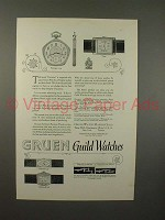 1925 Gruen Watch Ad - Pentagon 124, Tank, Cartouche