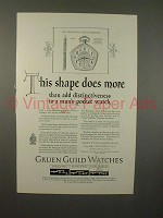1925 Gruen Pentagon Ultra-Verithin Watch Ad!