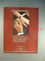 1982 Baume & Mercier Watch Ad - Obviously