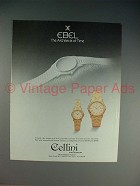 1985 Ebel Watch Ad - Architects of Time!