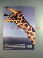 1986 Citizen Noblia Watch Ad - Thin as a Giraffe!
