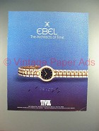 1987 Ebel Beluga Watch Ad - The Architects of Time!