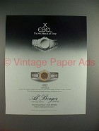 1987 Ebel 1911 Watch Ad - Architects of Time!