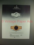 1988 Ebel 1911 Watch Ad - The Architects of Time!