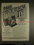 1956 Zeiss Ikon Super Ikonta IV Camera Ad, NICE!