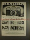 1956 Zeiss Ikon Contaflex Camera Ad - Most Popular!!