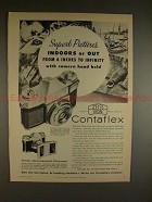 1956 Zeiss Ikon Contaflex Camera Ad - Superb Pictures!!