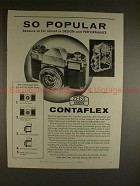 1956 Zeiss Ikon Contaflex Camera Ad - So Popular!