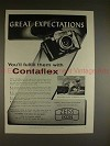 1957 Zeiss Ikon Contaflex Camera Ad, Great Expectations