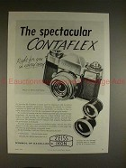1958 Zeiss Ikon Contaflex Camera Ad - The Spectacular!