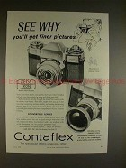 1958 Zeiss Ikon Contaflex Camera Ad - Finer Pictures!