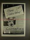 1958 Zeiss Ikon Contaflex Camera Ad - Happy Picture!!