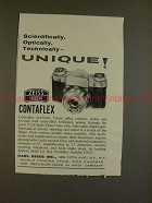 1958 Zeiss Ikon Contaflex Camera Ad - Optically Unique!