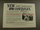 1959 Zeiss Ikon Contaflex Super Camera Ad - Automatic!
