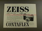 1959 Zeiss Ikon Contaflex Camera Ad - Great in Optics!!