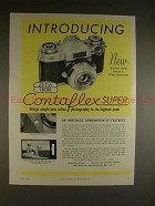 1959 Zeiss Ikon Contaflex Super Camera Ad - Introducing