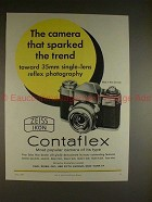 1959 Zeiss Contaflex Camera Ad - Sparked the Trend!!