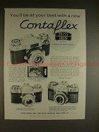 1959 Zeiss Contaflex Super, Rapid, Prima Camera Ad!!