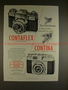 1959 Zeiss Contaflex Contina Camera Ad - For Christmas!