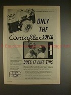 1960 Zeiss Contaflex Super Camera Ad, Does it Like This