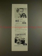 1961 Zeiss Contaflex Super Camera Ad - Sure to be Nice!