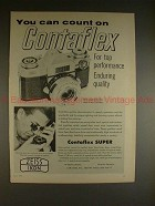 1961 Zeiss Contaflex Camera Ad - You Can Count On!!