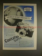 1961 Zeiss Contaflex Super Camera Ad - World Favorite!!