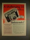1961 Zeiss Contessa-Matic E Camera Ad - Challenging 35!